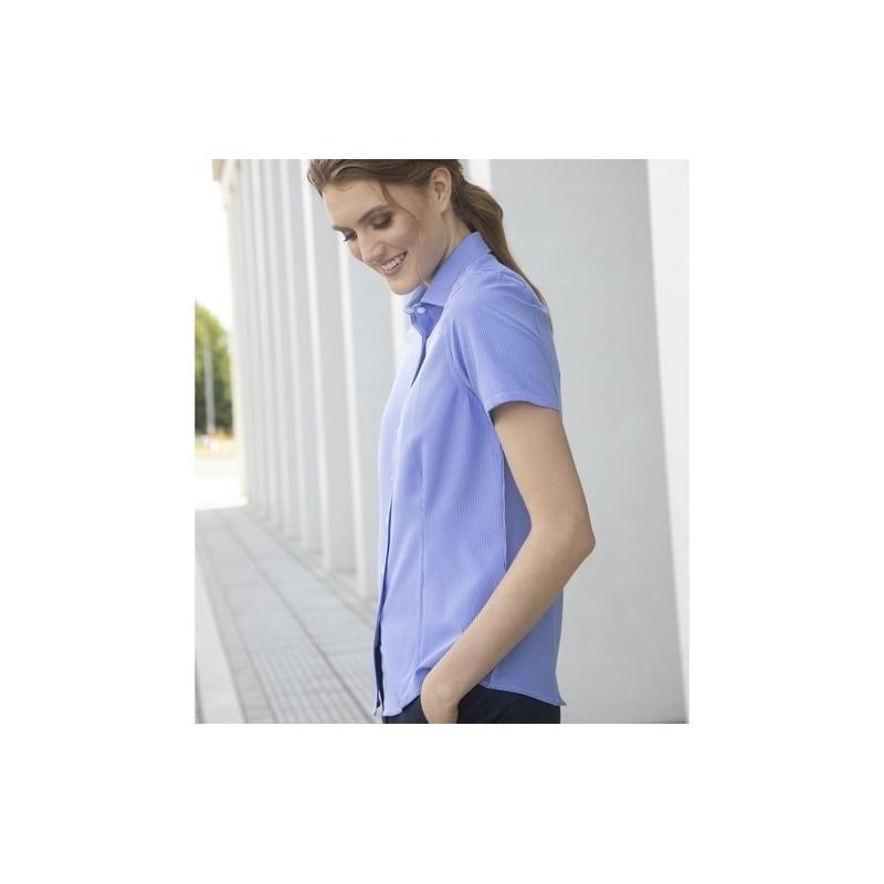 Ladies' Gingham Cofrex/Pufy Wicking S/S Shirt - à prix de gros - Chemisette femme à prix grossiste