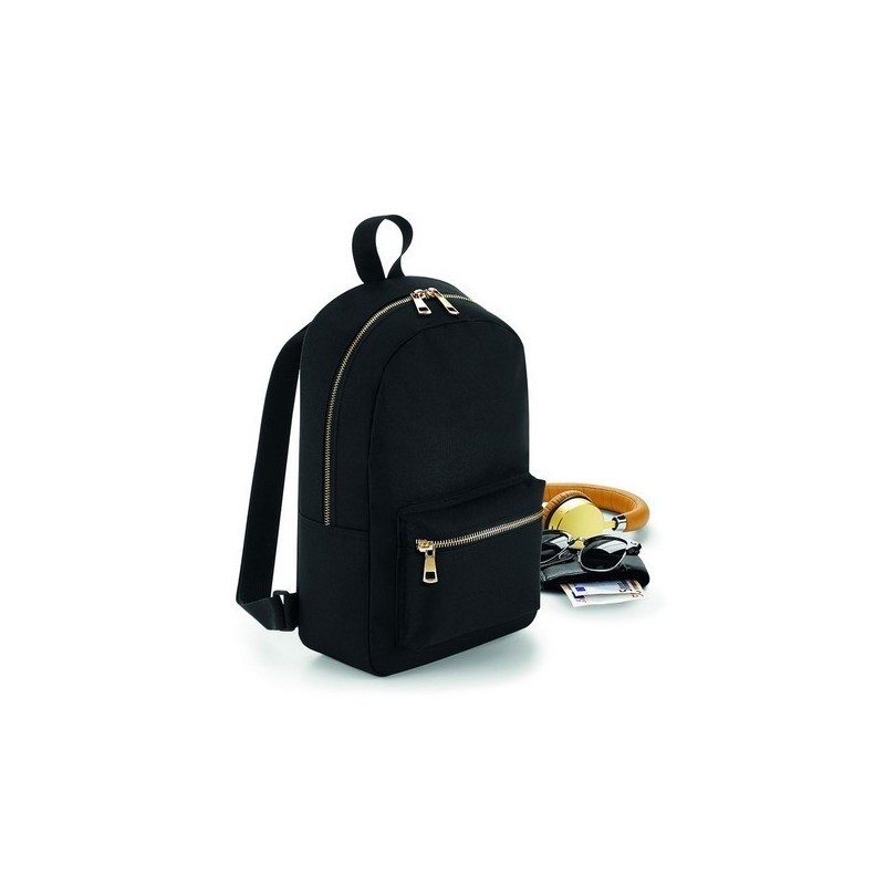 Metallic Zip Mini Backpack - Mini sac à dos avec fermeture zippée métallique - Sac à prix grossiste