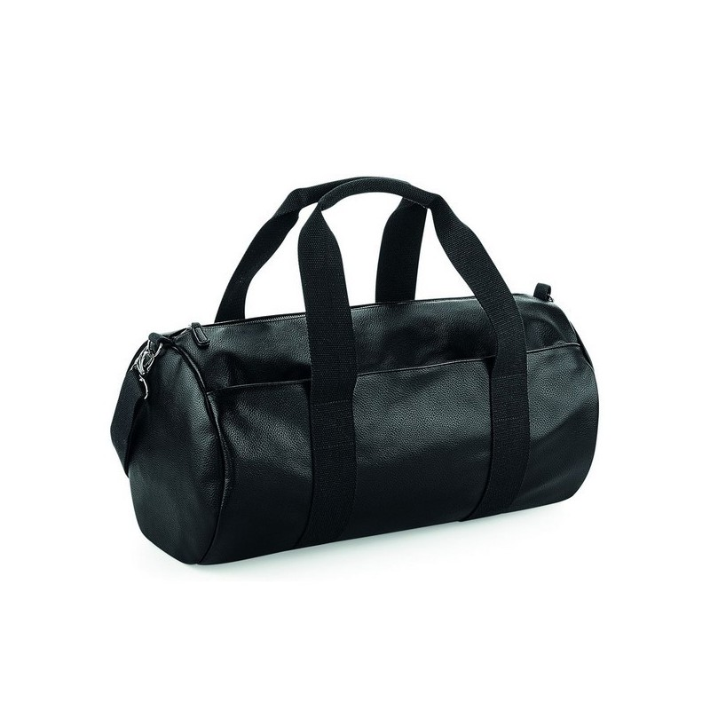 Faux Leather Barrel Bag - Sac de voyage en simili cuir - Sac à prix grossiste
