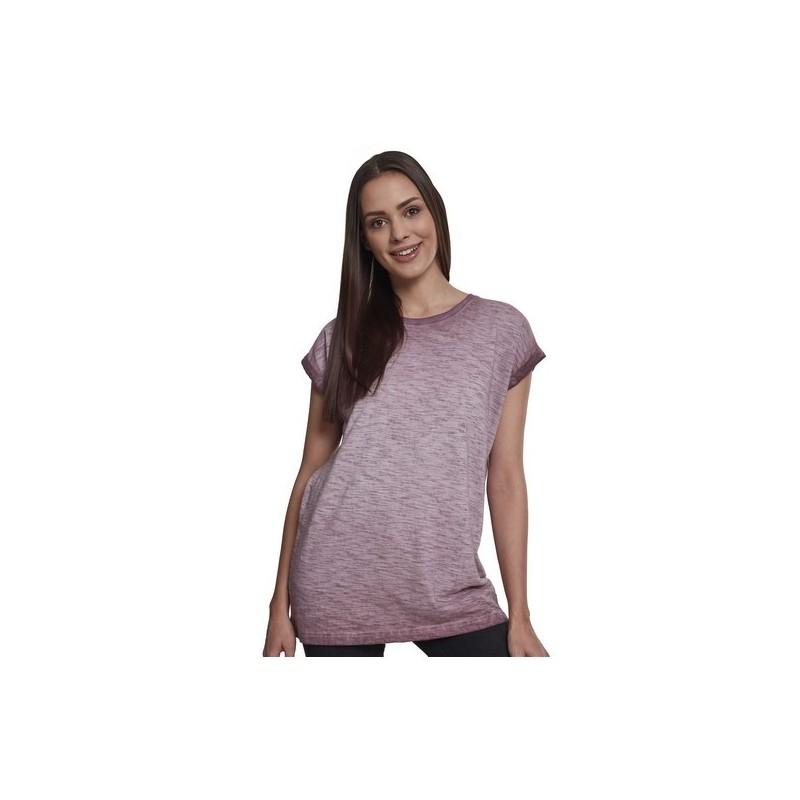 Ladies Spray Dye Extended Shoulder Tee - T-shirt femme tendance à prix de gros - T-shirt femme à prix grossiste
