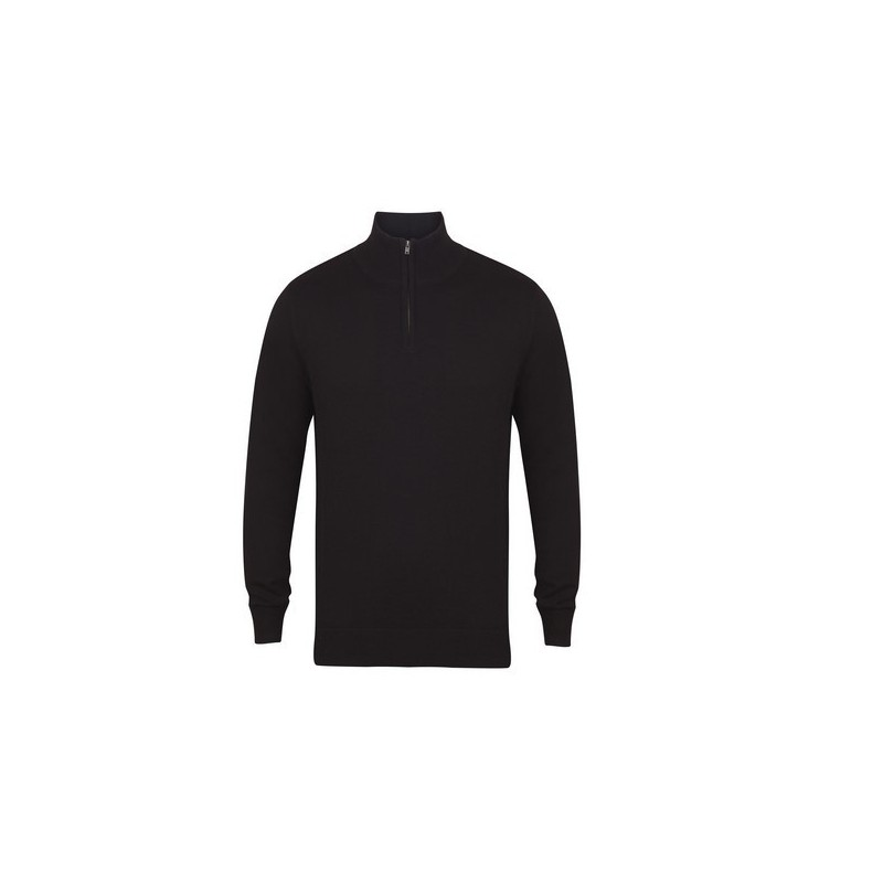 Men'S Knitted Quarter Zip Jumper - Pull col zippé - 3XL - Pull homme à prix grossiste