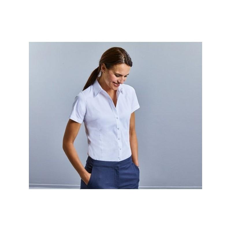 Ladies' Short Sleeve Tailored Coolmax Shirt - Chemise Coolmax Cintée Manches Courtes Femme à prix grossiste - Cardigan / gilet à prix de gros