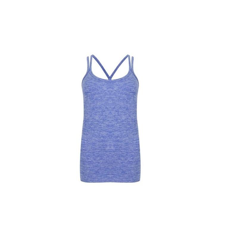 LADIES' SEAMLESS STRAPPY VEST - Débardeur bretelles femme - T-shirt femme à prix grossiste