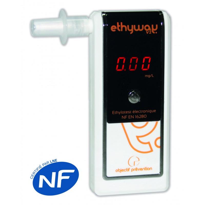 Ethylotest Ethyway V2 - Norme NF EN 16280 - Etylotest à prix grossiste