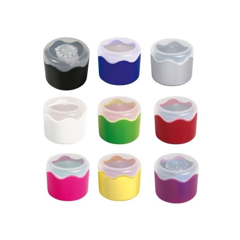 Boite ronde, couvercle transparent - écrin de montre à prix grossiste