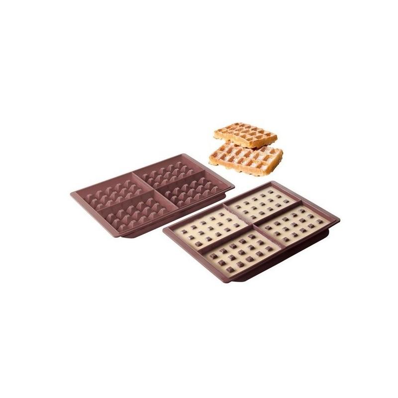 Kit 2 moules à gaufres en silicone - Moule de cuisine à prix grossiste