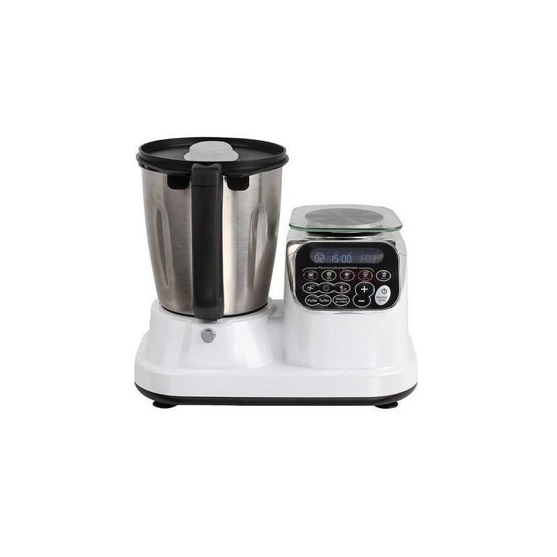 Robot culinaire chauffant blanc - Livre de recettes à prix de gros