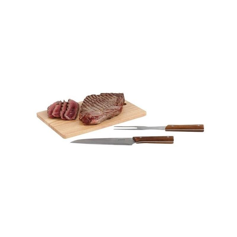 Set à barbecue 3 pcs - Planche à découper à prix grossiste