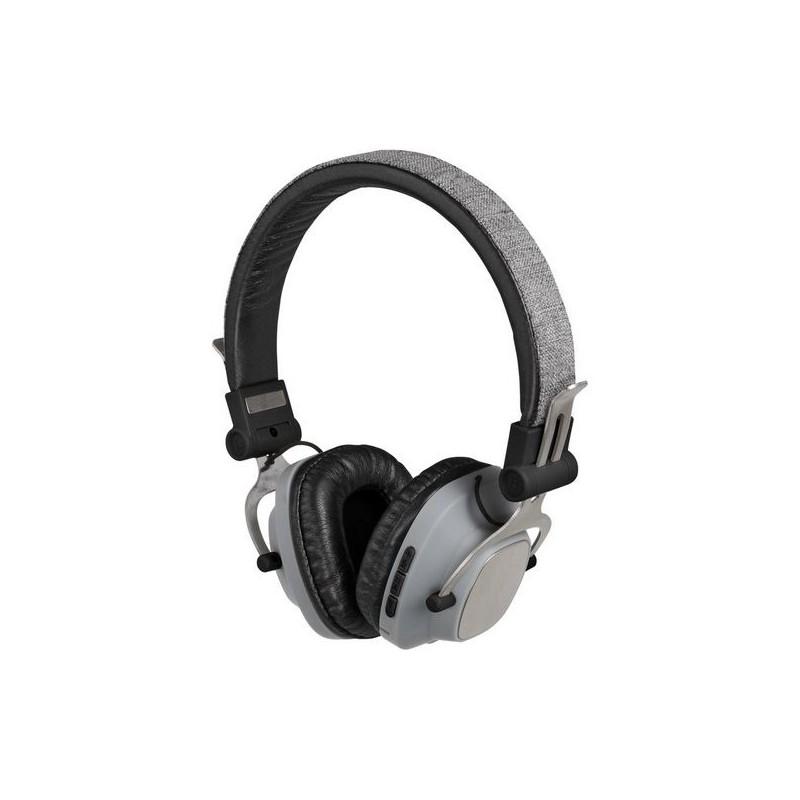 Casque compatible Bluetooth® gris à prix grossiste - Accessoire informatique à prix de gros