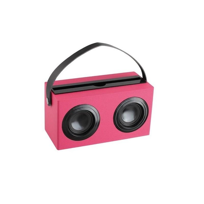 Enceinte compatible Bluetooth® rose - Accessoire informatique à prix de gros