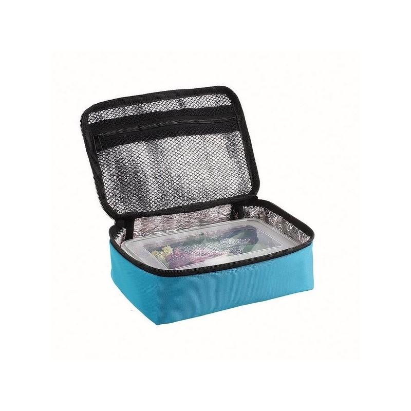 Set lunch box bleu à prix de gros - Lunch box à prix grossiste