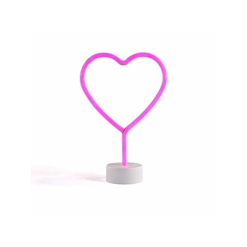 Lampe néon coeur à prix grossiste - Accessoire de décoration à prix de gros