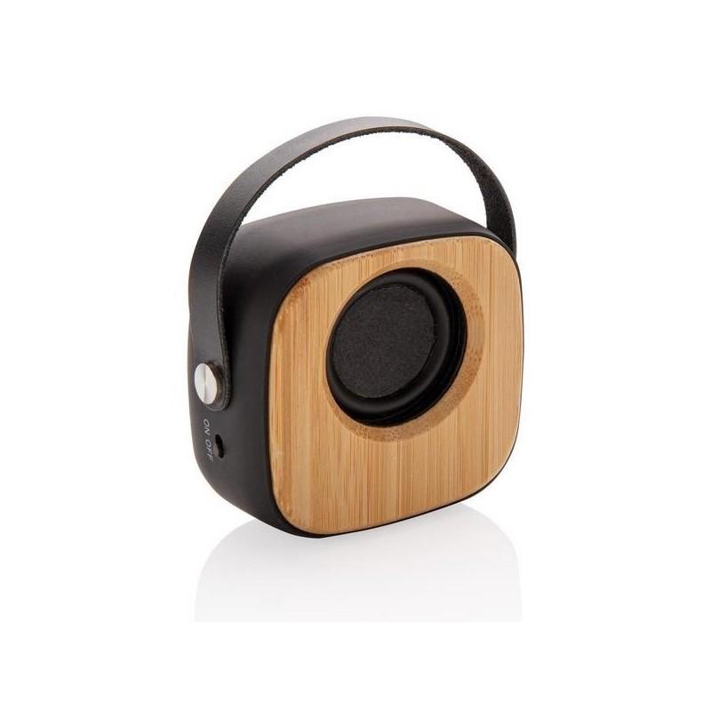 Enceinte fashion en bambou 3W à prix de gros - Produit en bois à prix grossiste