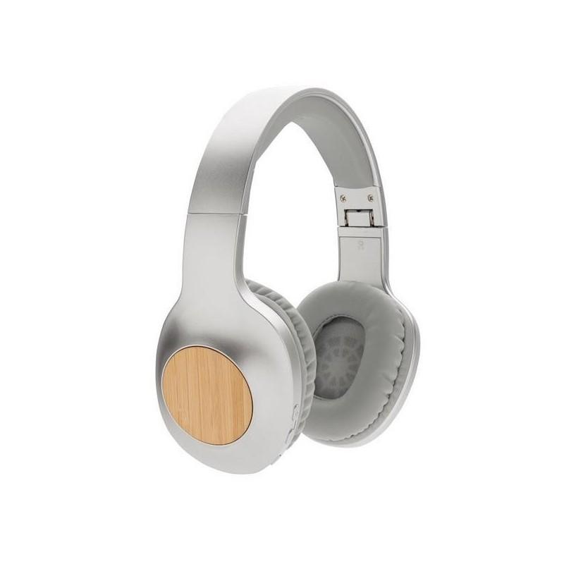 Casque audio en bambou Dakota - Casque audio à prix grossiste