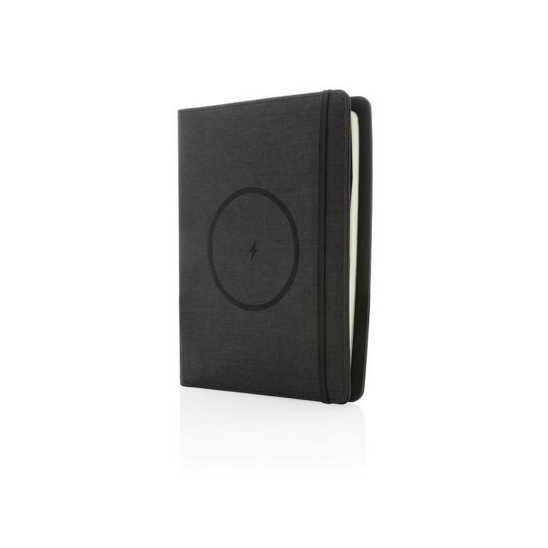 Housse à carnet avec chargeur 5W et powerbank 5000 mAh Air - Bloc-notes à prix de gros