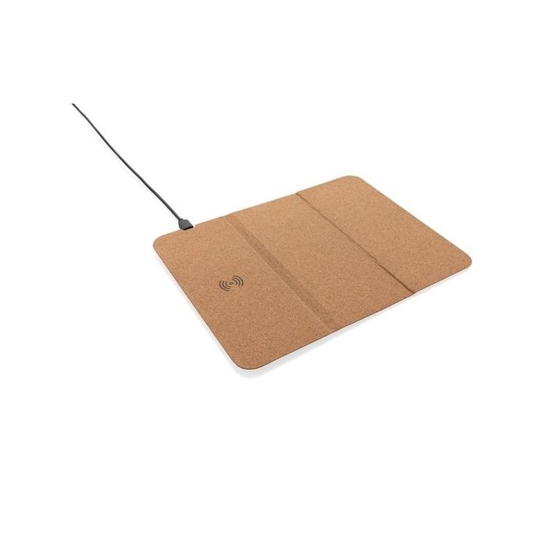 Tapis de souris en liège avec support téléphone et induction - Tapis de souris à prix de gros