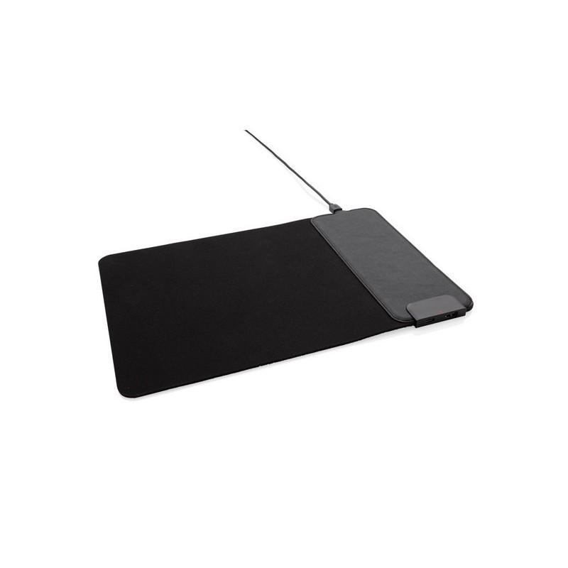 Tapis de souris avec ports USB et chargeur à induction 15W à prix grossiste - Tapis de souris à prix de gros