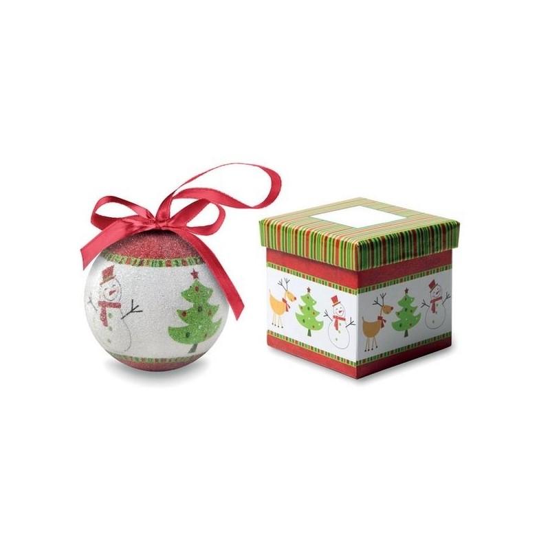 SWEETY - Boule de Noël et boîte. à prix grossiste - Accessoire de décoration à prix de gros