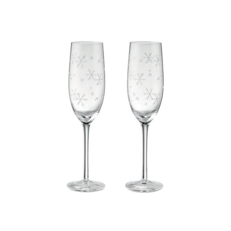 CHEERS - Set de 2 coupes à champagne - Verre à prix grossiste