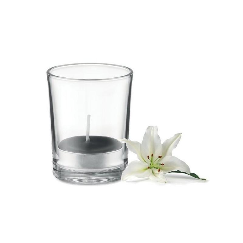 TRANSPARENT - Bougie dans verre transparent à prix de gros - Accessoire de décoration à prix grossiste