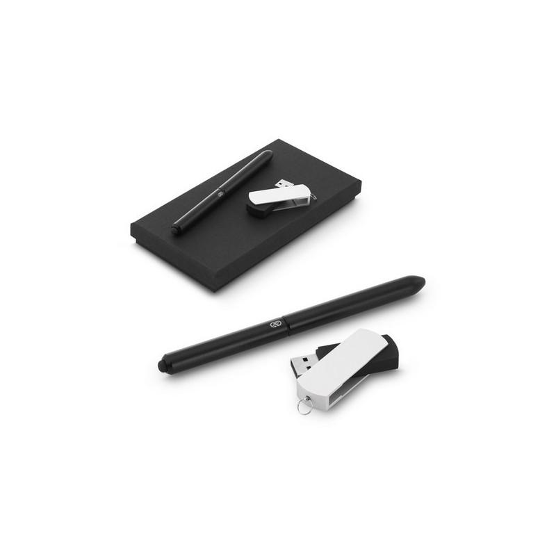 THALES. Coffret stylo à bille et clé USB, 4GB - Stylo usb à prix grossiste