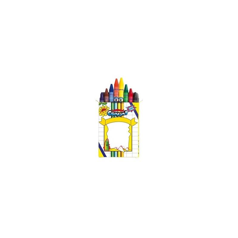 Set de 8 crayons de cire IMAGINE à prix de gros - Crayon cire à prix grossiste