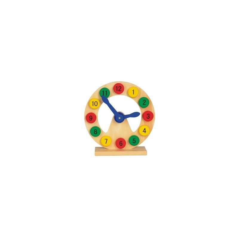 Horloge éducative COLOURED TIME - Horloge à prix grossiste
