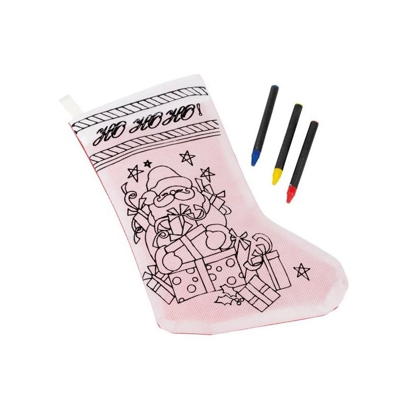 Chaussette de Noël à colorier COLOURFUL WISH - Matériel à dessin et coloriage à prix de gros