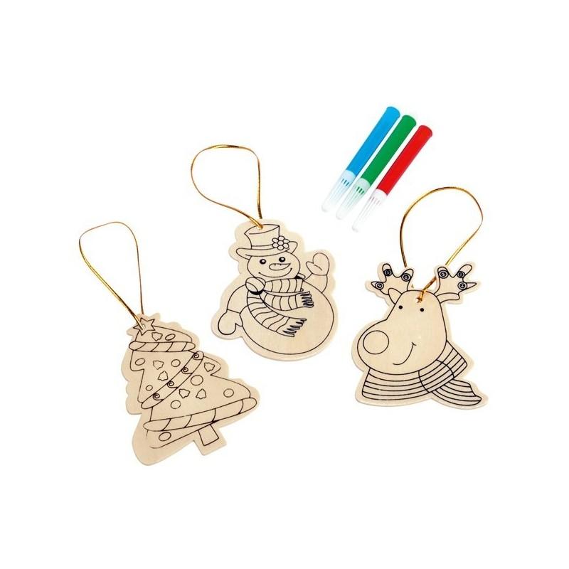Décorations de Noël à colorier TREE HANGER - Accessoire de décoration à prix grossiste