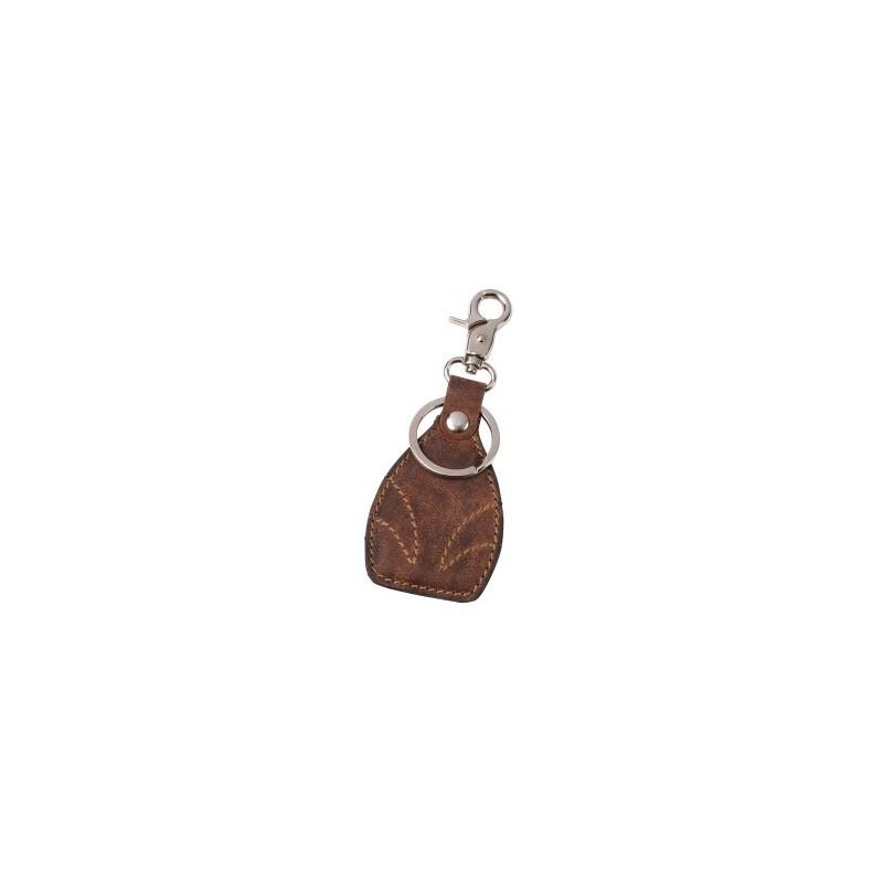 Porte-clés en cuir véritable WILDERNESS à prix de gros - Porte-clés à prix grossiste