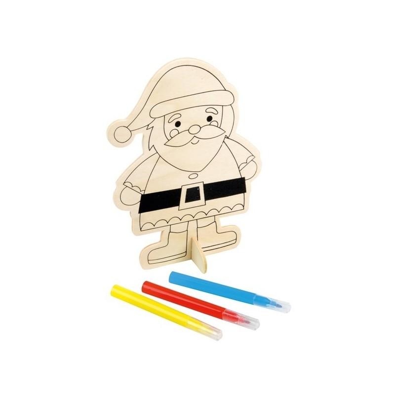 Figurines de Noël à suspendre en bois ECO COLOUR - Matériel à dessin et coloriage à prix grossiste