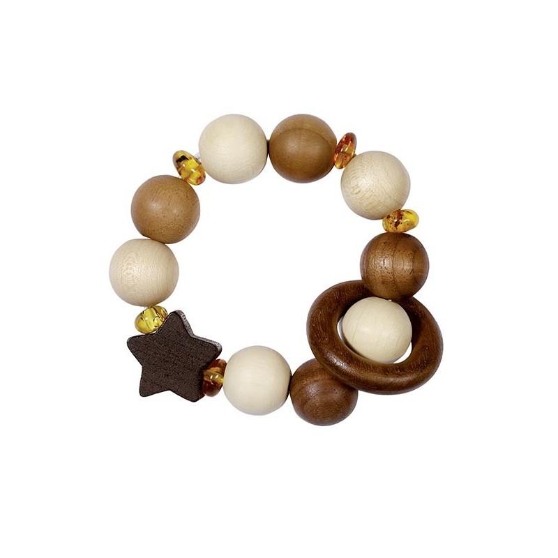 Hochet flexible étoile et ambre à prix grossiste - hochet à prix de gros