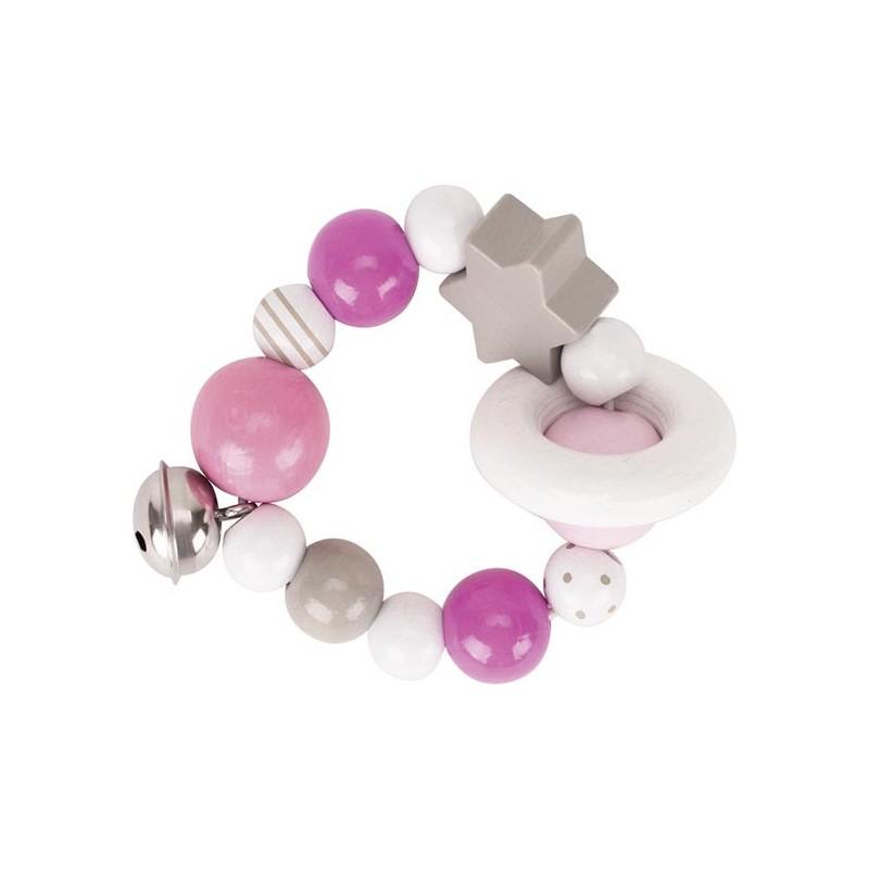 Hochet flexible rose, gris, blanc à prix de gros - hochet à prix grossiste