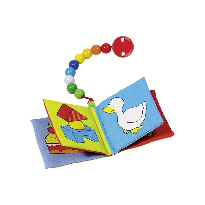 Livre d'image couineur et grelot avec chaîne pour bébé à prix de gros - livre pour enfants à prix grossiste