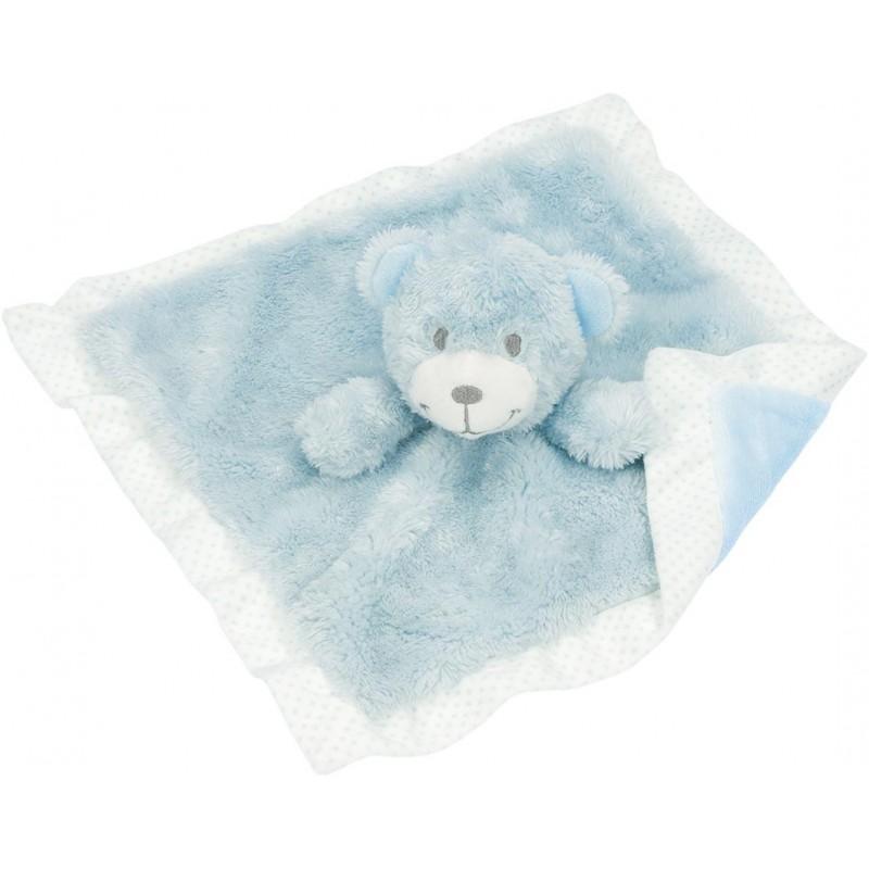 Doudou ours bleu clair - Doudou à prix grossiste