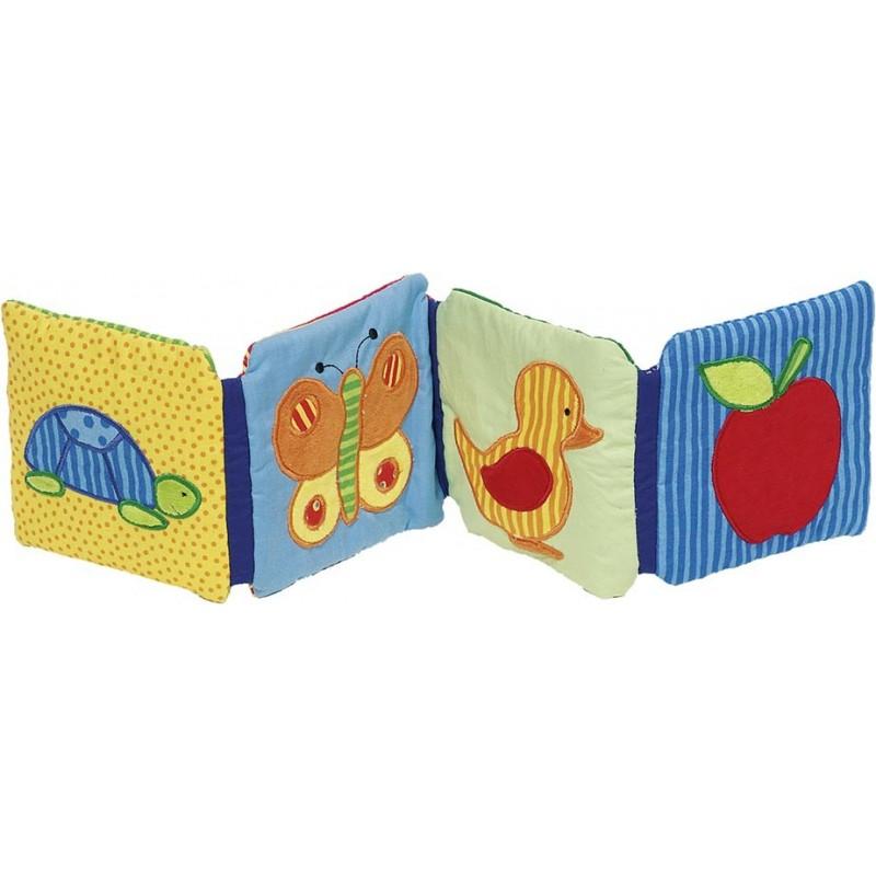 Livre d`images en tissu avec grelot, couineur et papier qui - livre pour enfants à prix grossiste