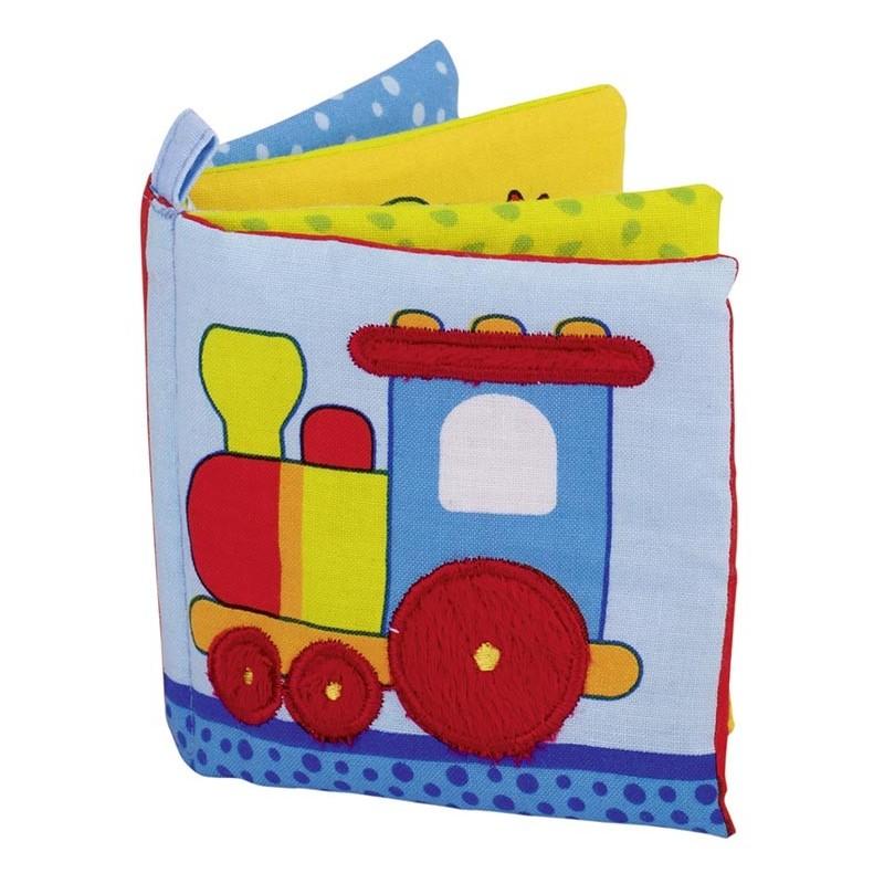 Livre d`images en tissu avec couineur et papier qui crépite - livre pour enfants à prix de gros