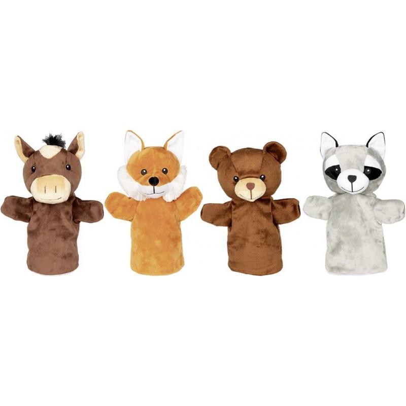 Marionnettes, animaux Arino, Funu, Wassti et Baru - marionnette à prix de gros