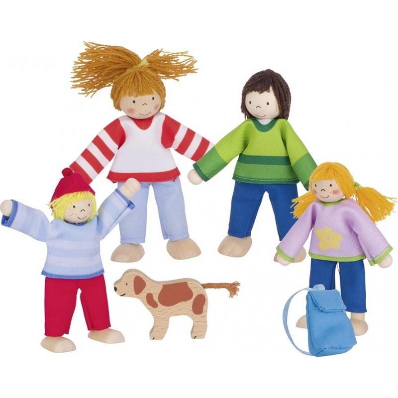 Famille du camping, poupées articulées - poupée à prix grossiste