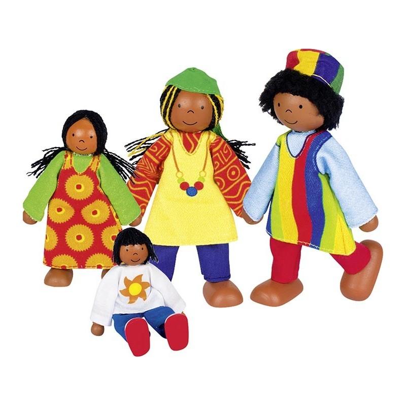 Poupées flexibles Famille africaine - poupée à prix grossiste