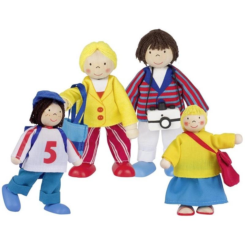 Famille en vacances, poupées articulées à prix grossiste - poupée à prix de gros