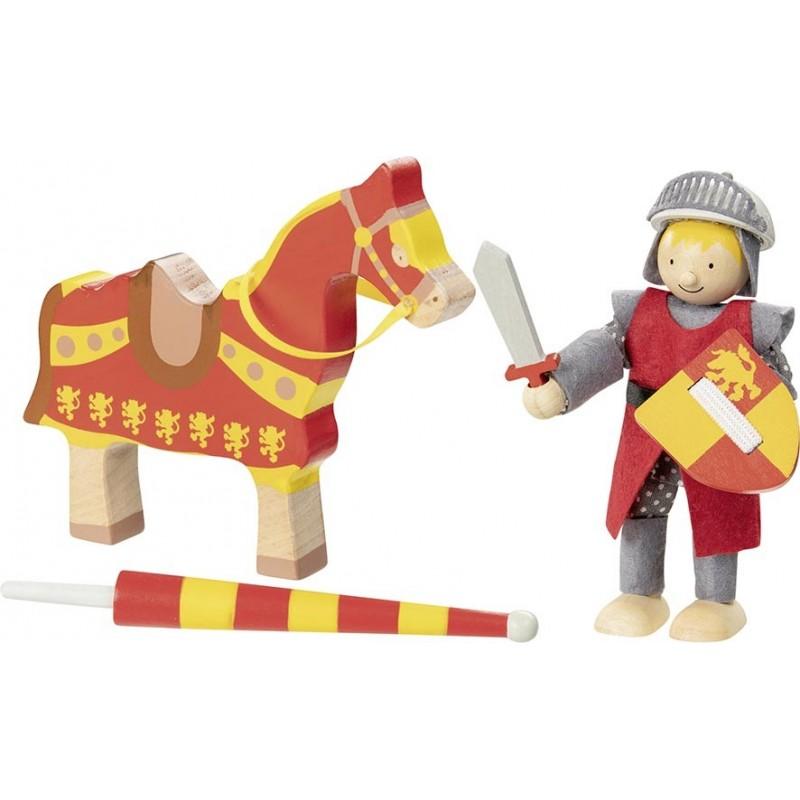 Poupée flexible, chevalier Artus avec cheval - poupée à prix grossiste