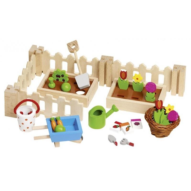 Accessoires Mon petit jardin, pour les maisons de poupées - accessoires de poupées à prix de gros