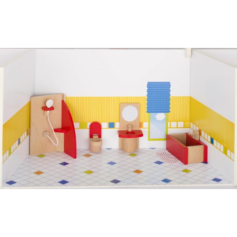Meubles de poupées Salle de bains, goki basic. à prix grossiste - accessoires de poupées à prix de gros