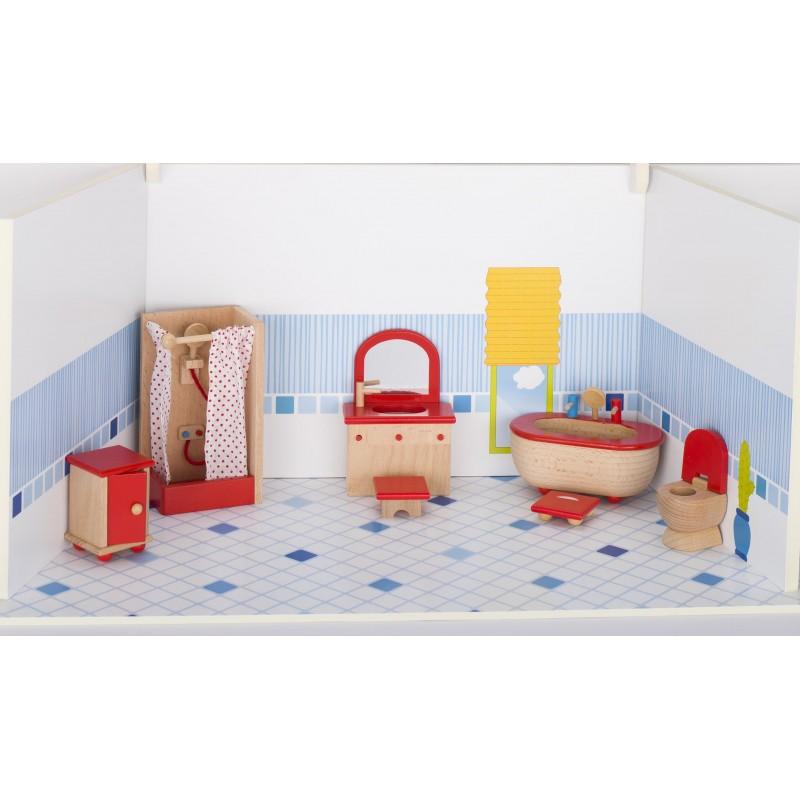 Meubles de poupées, salle de bain à prix grossiste - accessoires de poupées à prix de gros