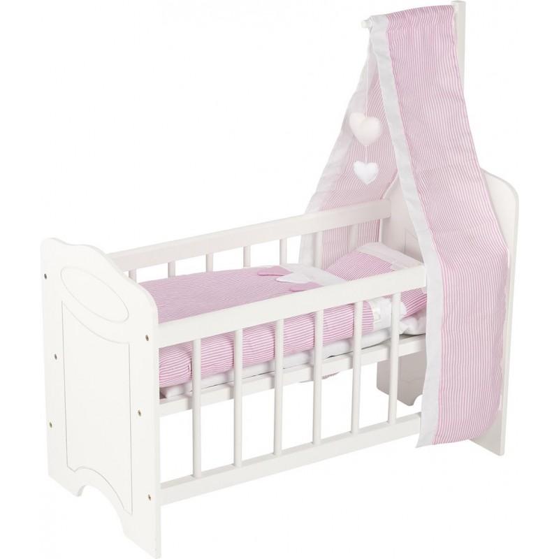 Lit pour poupées avec linge de lit et baldaquin - accessoires de poupées à prix de gros