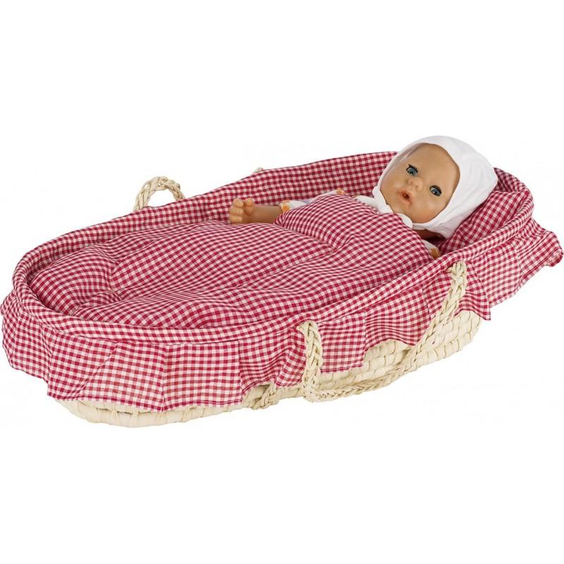 Couffin pour poupées avec draps à prix grossiste - accessoires de poupées à prix de gros