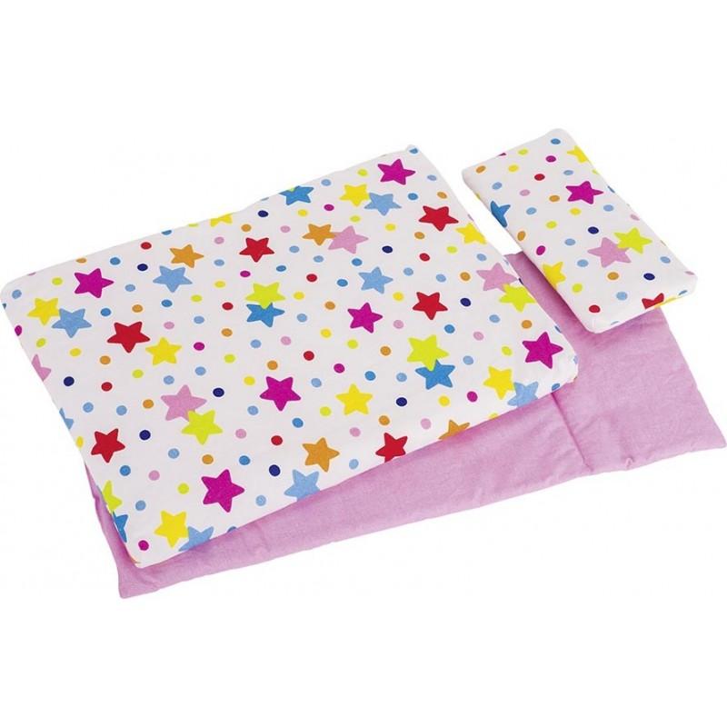 Linge de lit pour poupées, étoiles - accessoires pour maison de poupées à prix grossiste