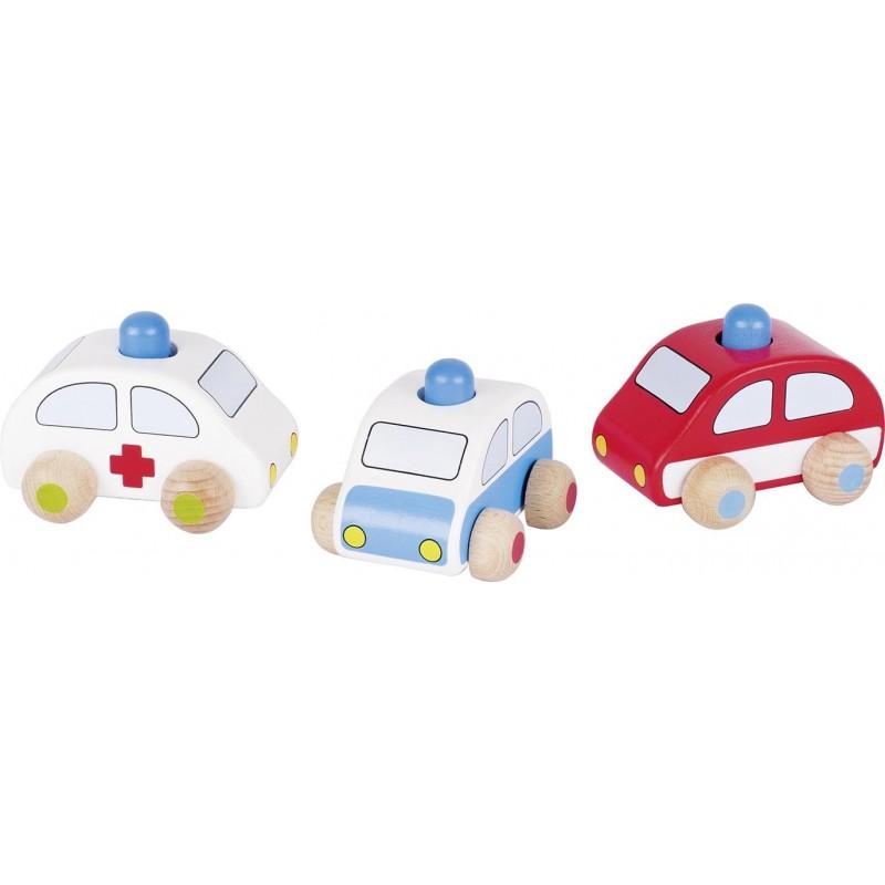 Voitures avec klaxon, police, camion de pompiers, ambulance - Voiture miniature à prix de gros