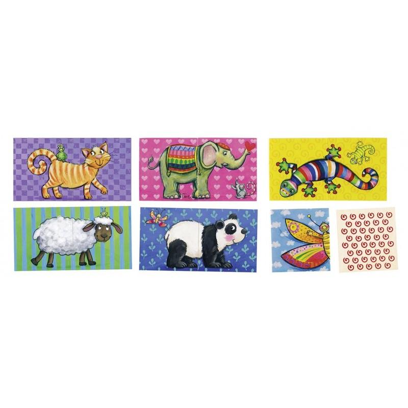 Jeu de mémo et puzzle des animaux à prix grossiste - Puzzle à prix de gros